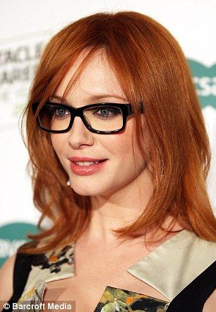 Cute redhead wearing glasses