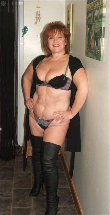 Mature boots interracial