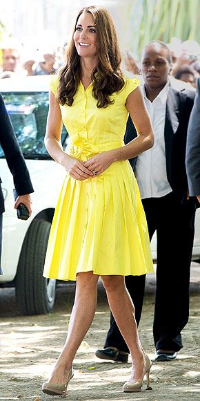 Kate middleton yellow