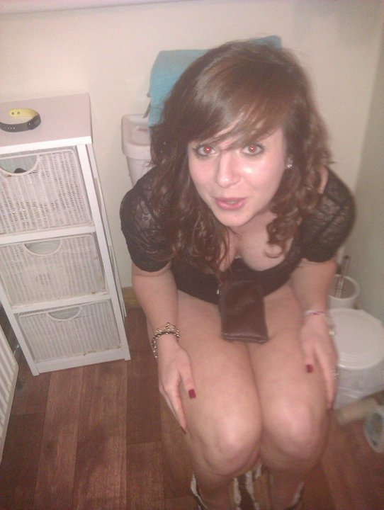 Girls caught peeing on toilet