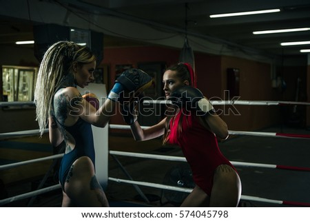 Girl riding on weight bench