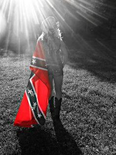 rebel Naked girl flag with