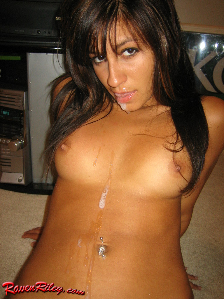 Raven riley cum on tits