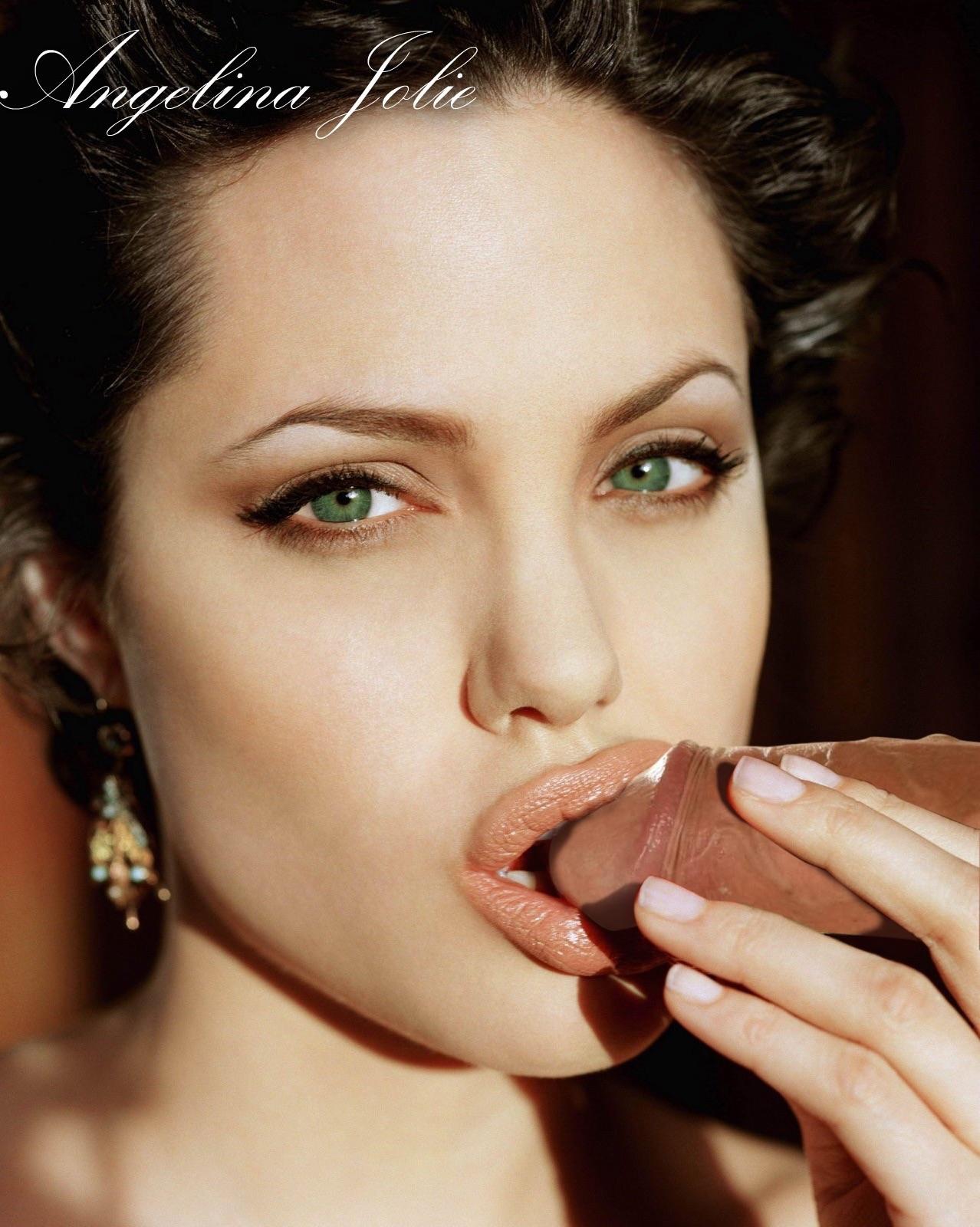 Angelina jolie sucking dick