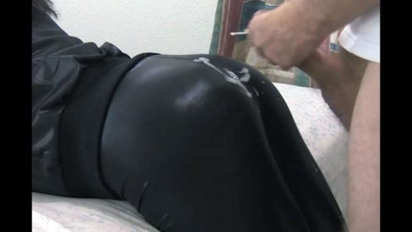 cum on leggings porn