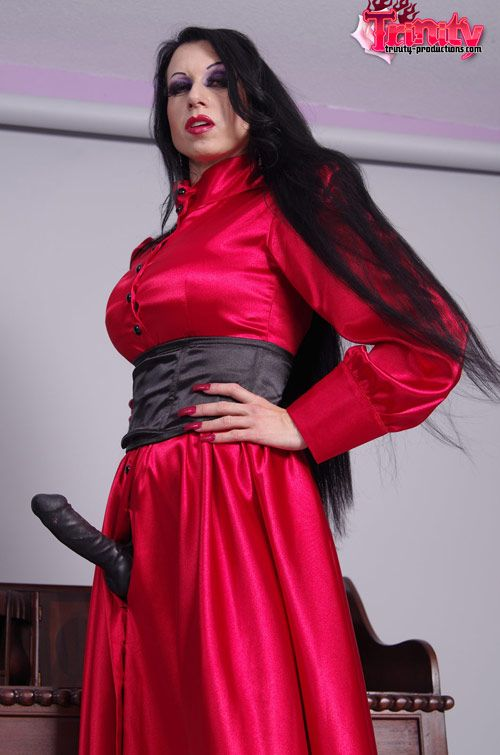 Trinity leather skirt sex