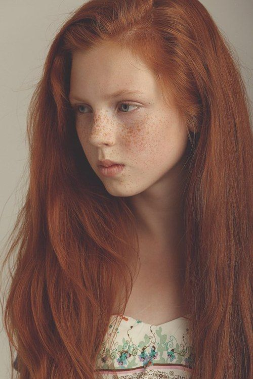 Redhead teens want black