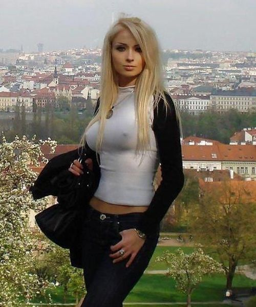 Beautiful amateur blond