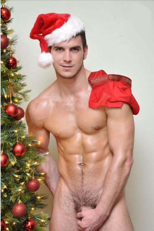 Sexy naked gay santa claus
