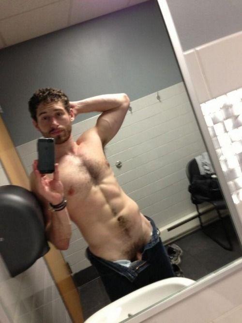 Naked guy selfie locker room