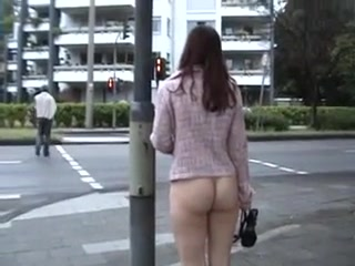 Girls walking naked in public