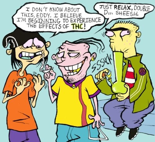 Funny weed cartoons characters