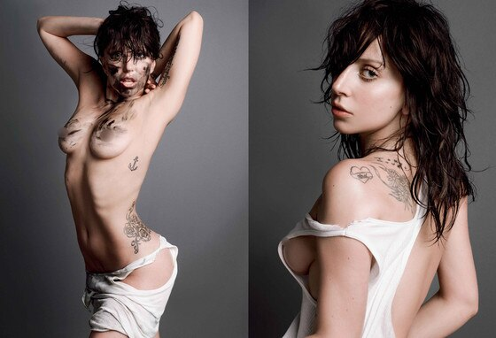 gaga magazine v Lady naked