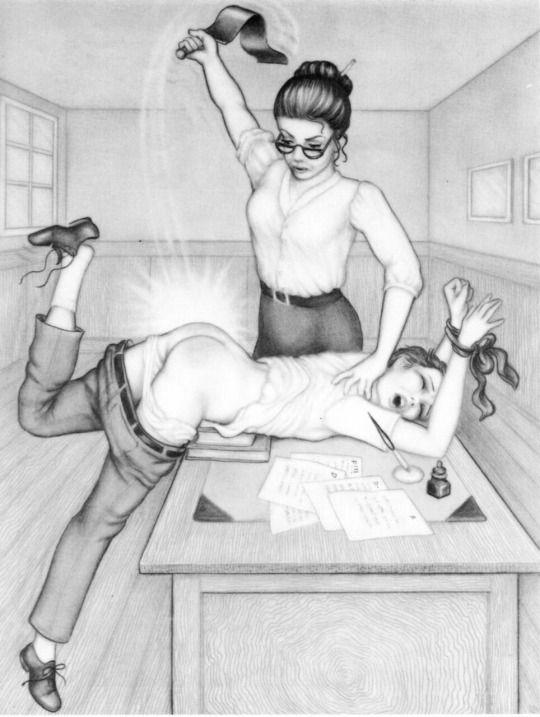 Real teacher spanking boys