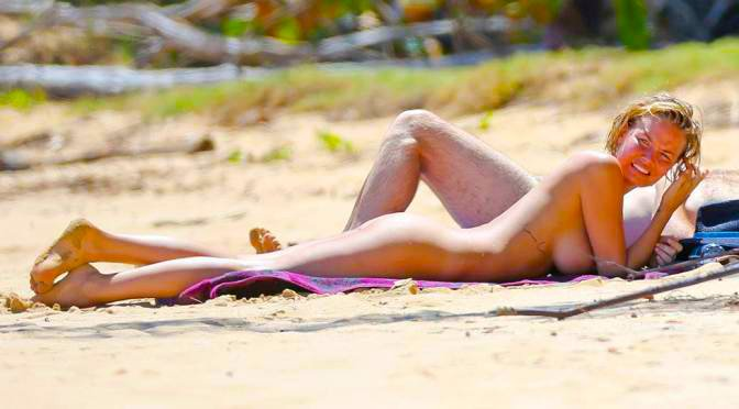 Lara bingle topless beach