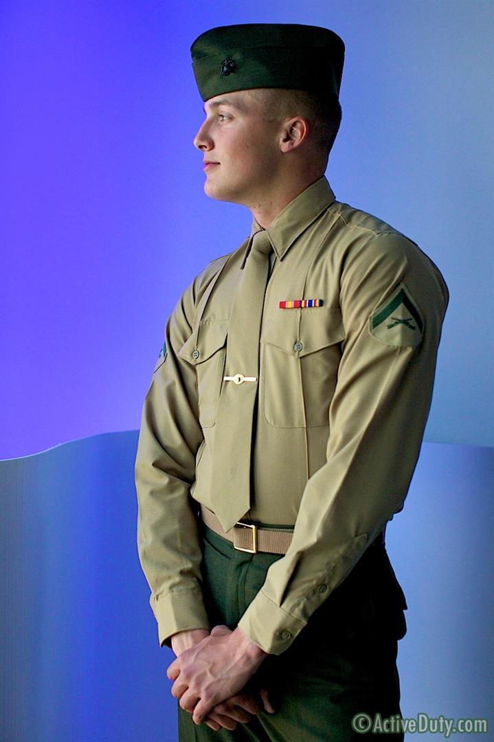 uniform porn Marine gay