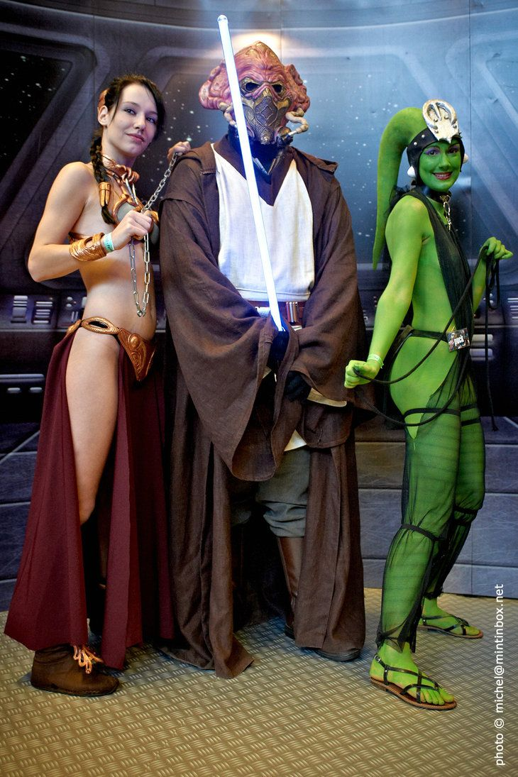 Star wars sexy jedi girls cosplay
