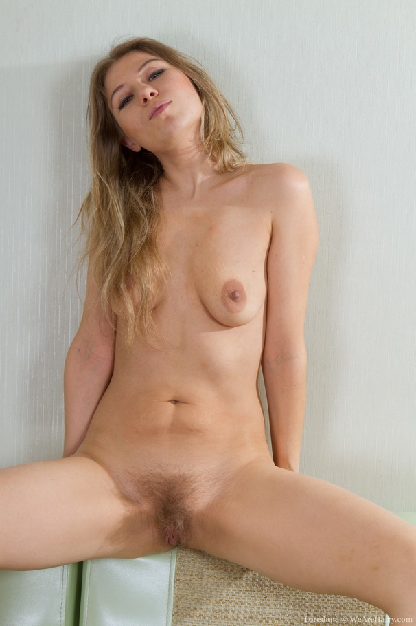 Hairy blonde pussy hair