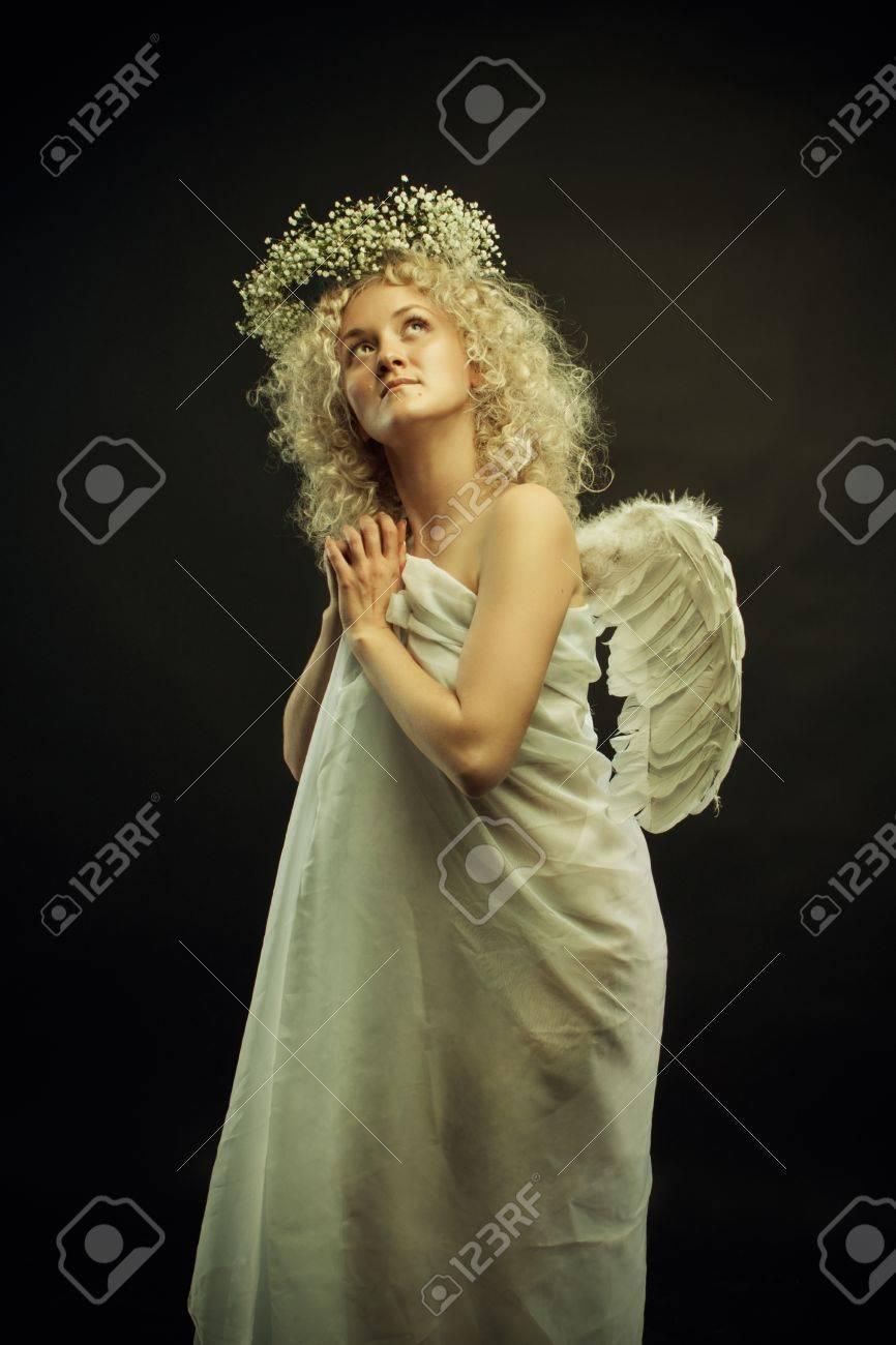 posing Angel dark