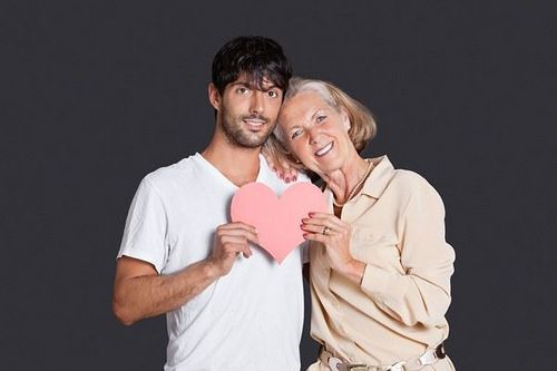 Older woman with young guy