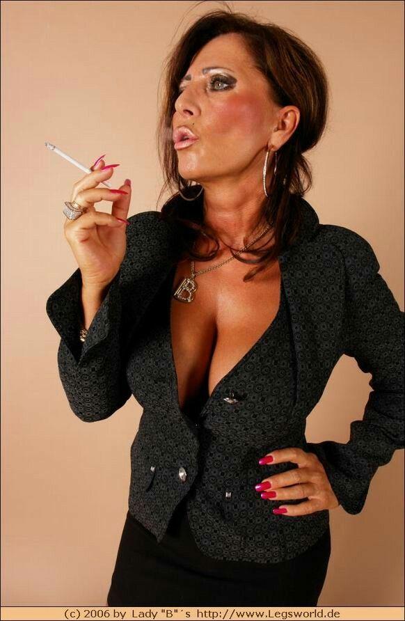 Mistress lady barbara smoking