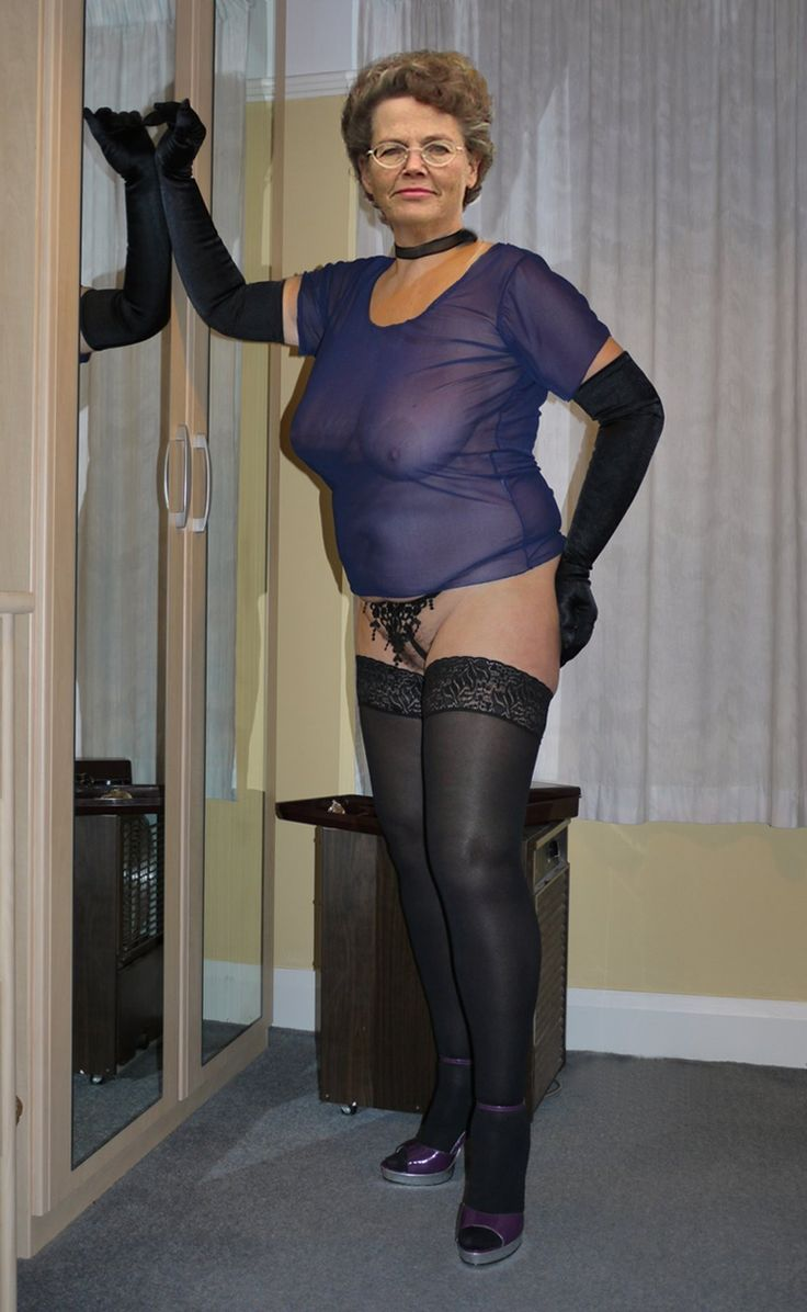 Granny see through pantyhose