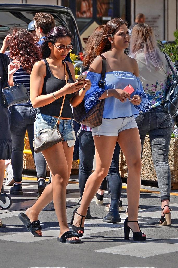 Sexy candid street girls