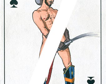Gay male nude playing cards