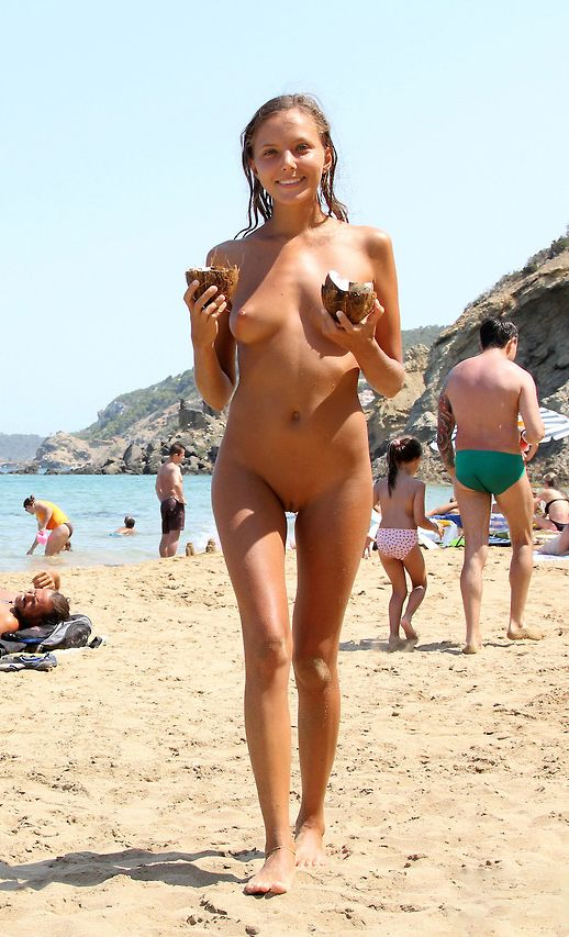 Awesome girl student nudist beach