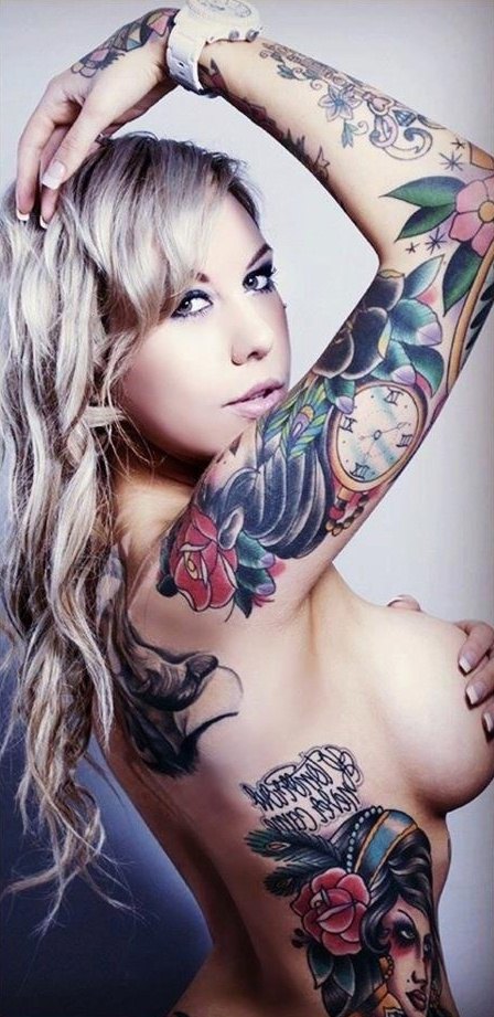 Nude tattooed women tattoos