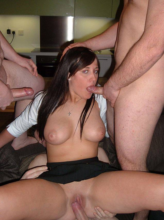 Amateur wife group sex party