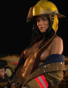 firefighters Nude women