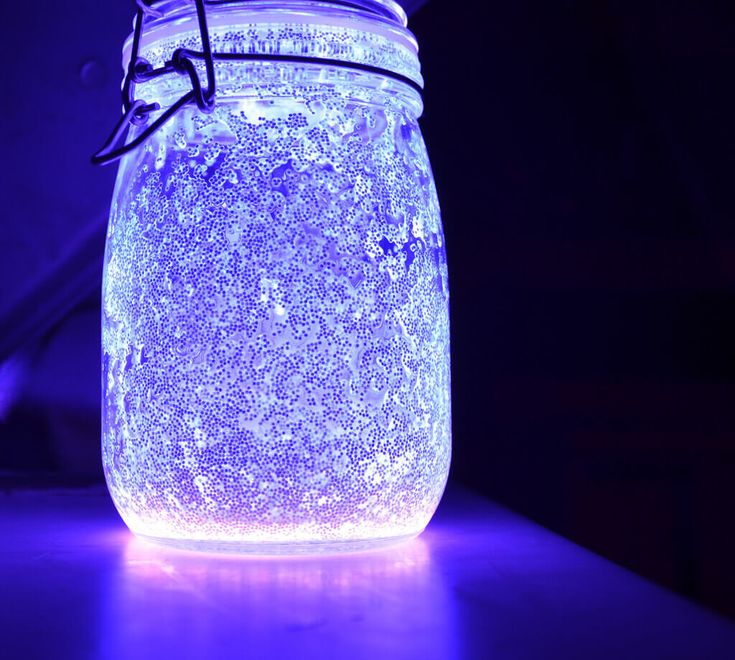 Fairy mason jars with glow sticks