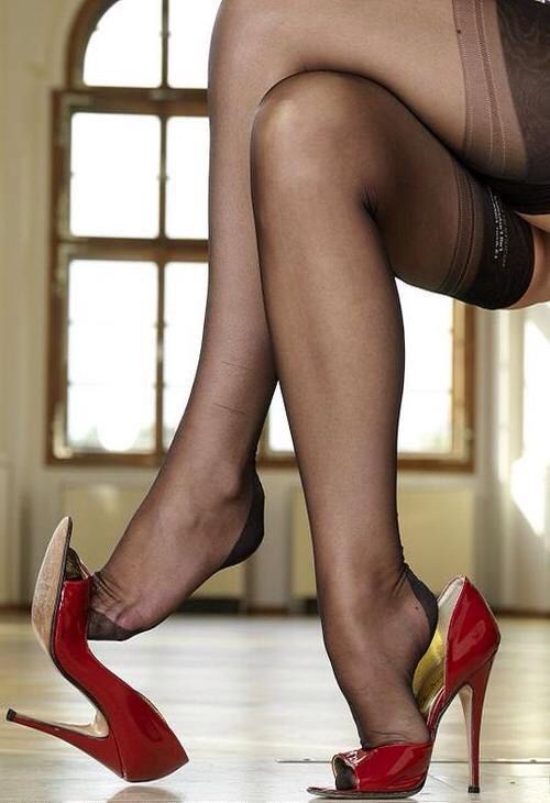 Nylons and heels
