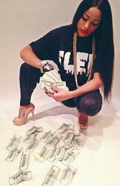 Hot girls counting money