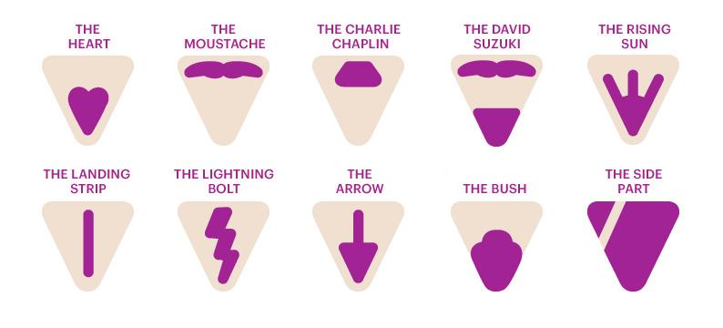 Pubic hair designs