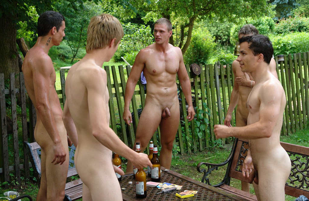 Gay naked male bonding