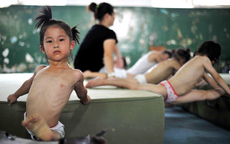 Tiny young asian teen