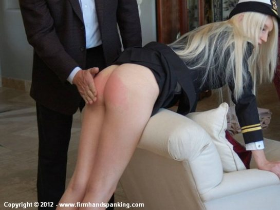 Girls bare ass spanking