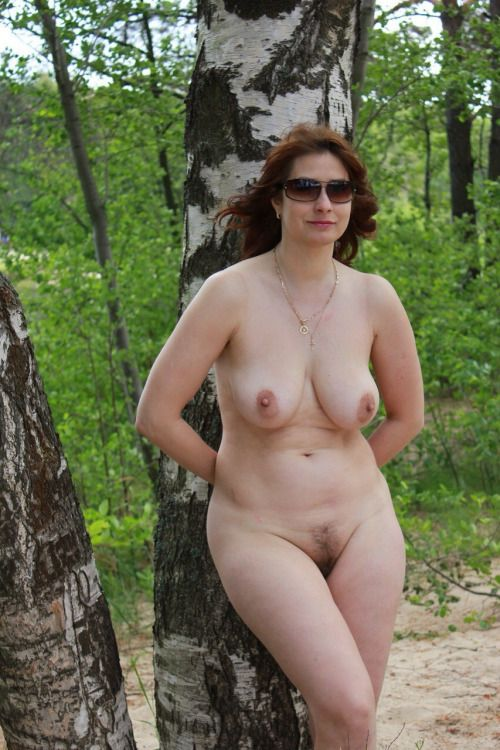 Mature mom nude outdoors