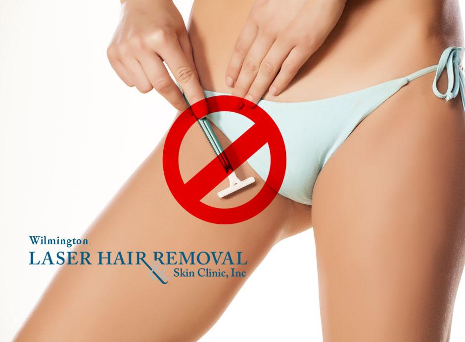 Bikini laser photo pubic hair removal