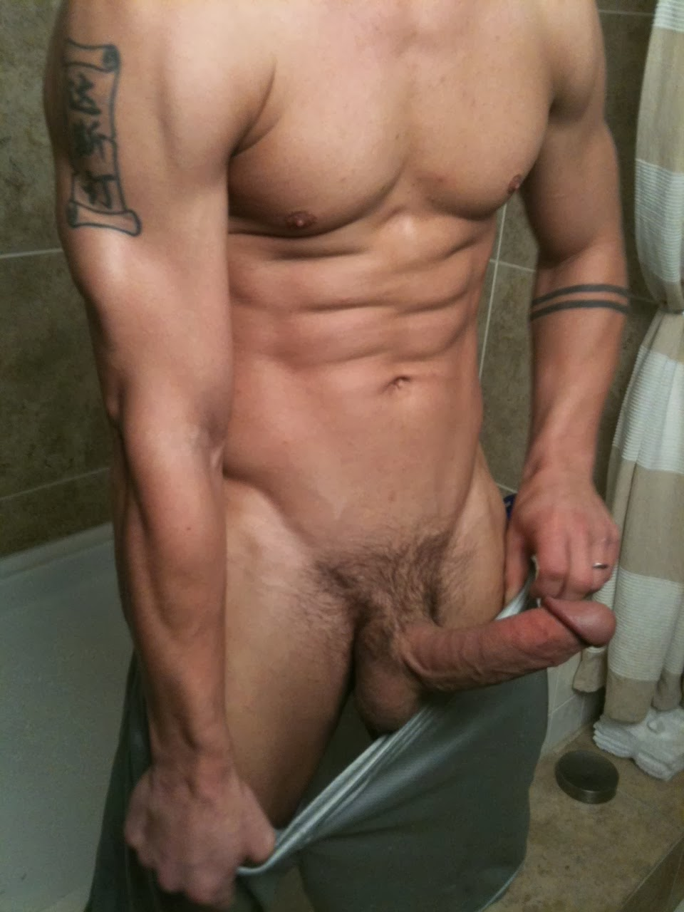 Big gay cock bathroom