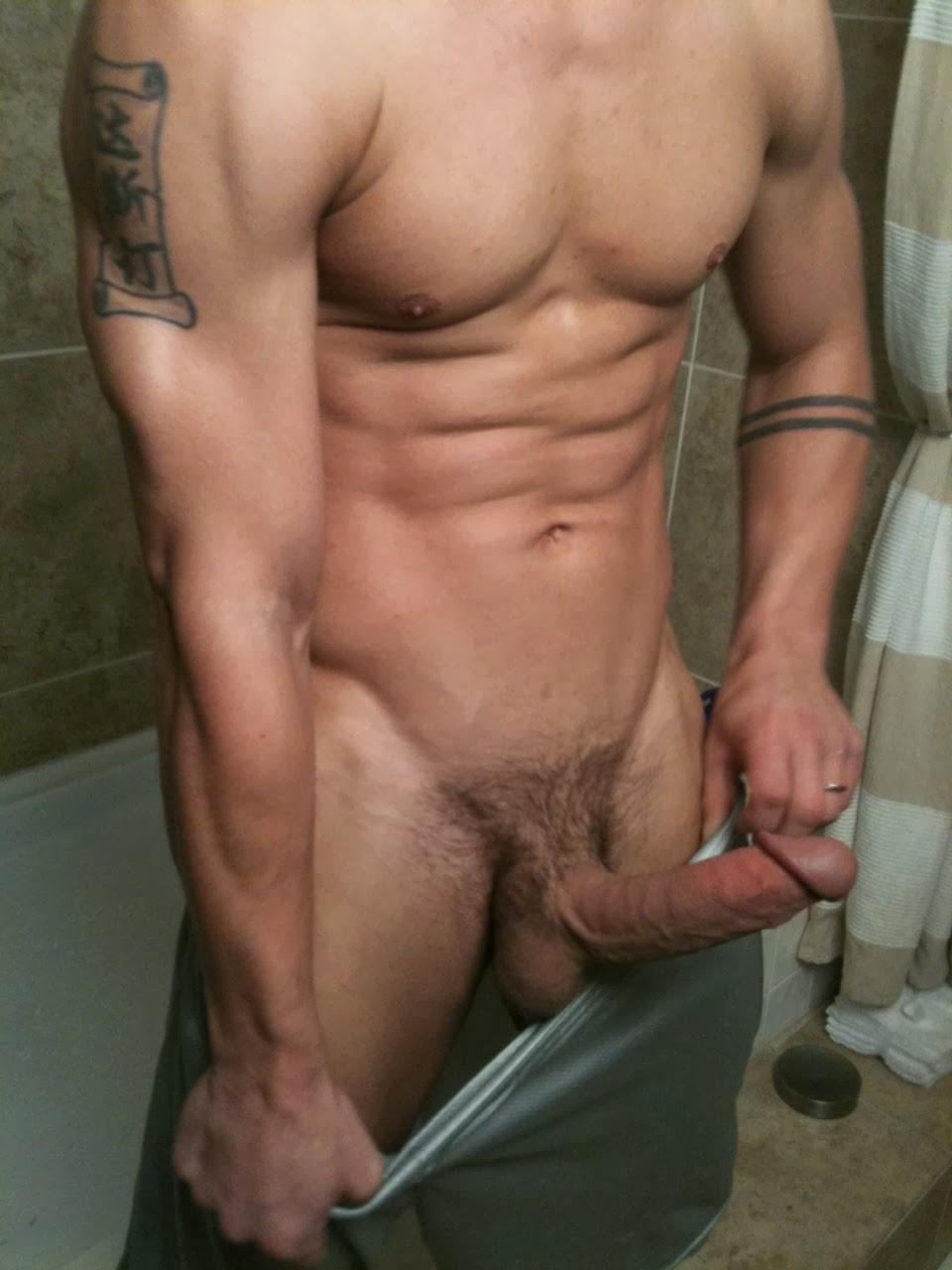 Big gay cock bathroom
