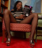 Ebony black girls pantyhose