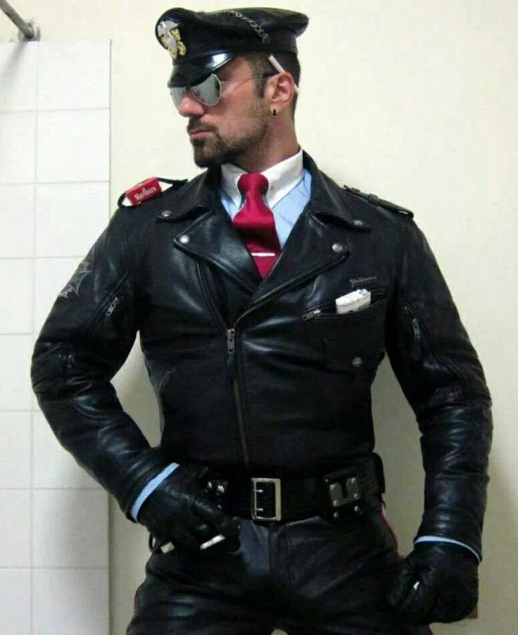 leather Hot men gay