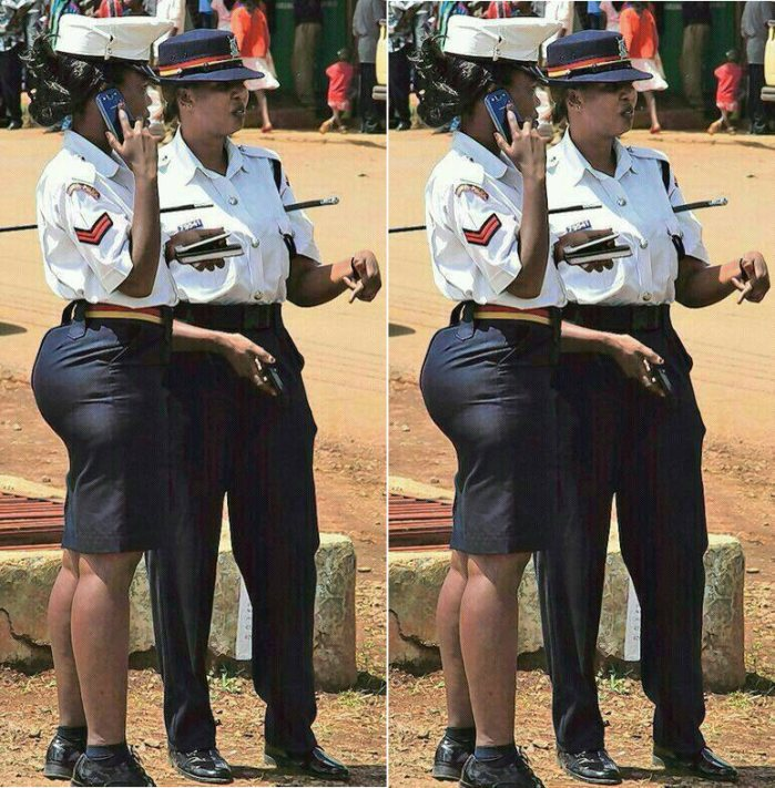 Big ass booty in uniform
