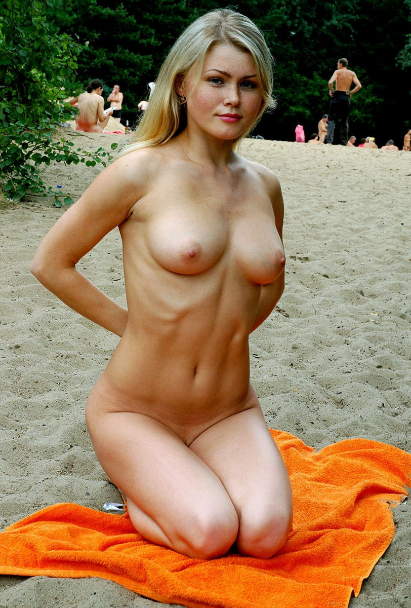Blonde russian girl nude beach