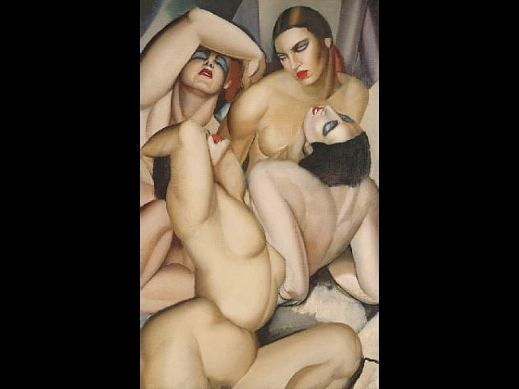 Nude lying down lesbian
