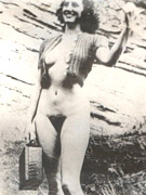Vintage nude matures outdoors