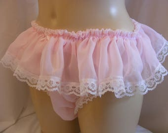 Sissy frilly satin panty